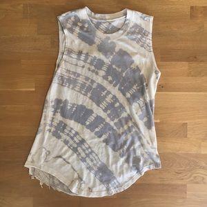 LIKE NEW Raquel Allegra tie dye shredded back tank